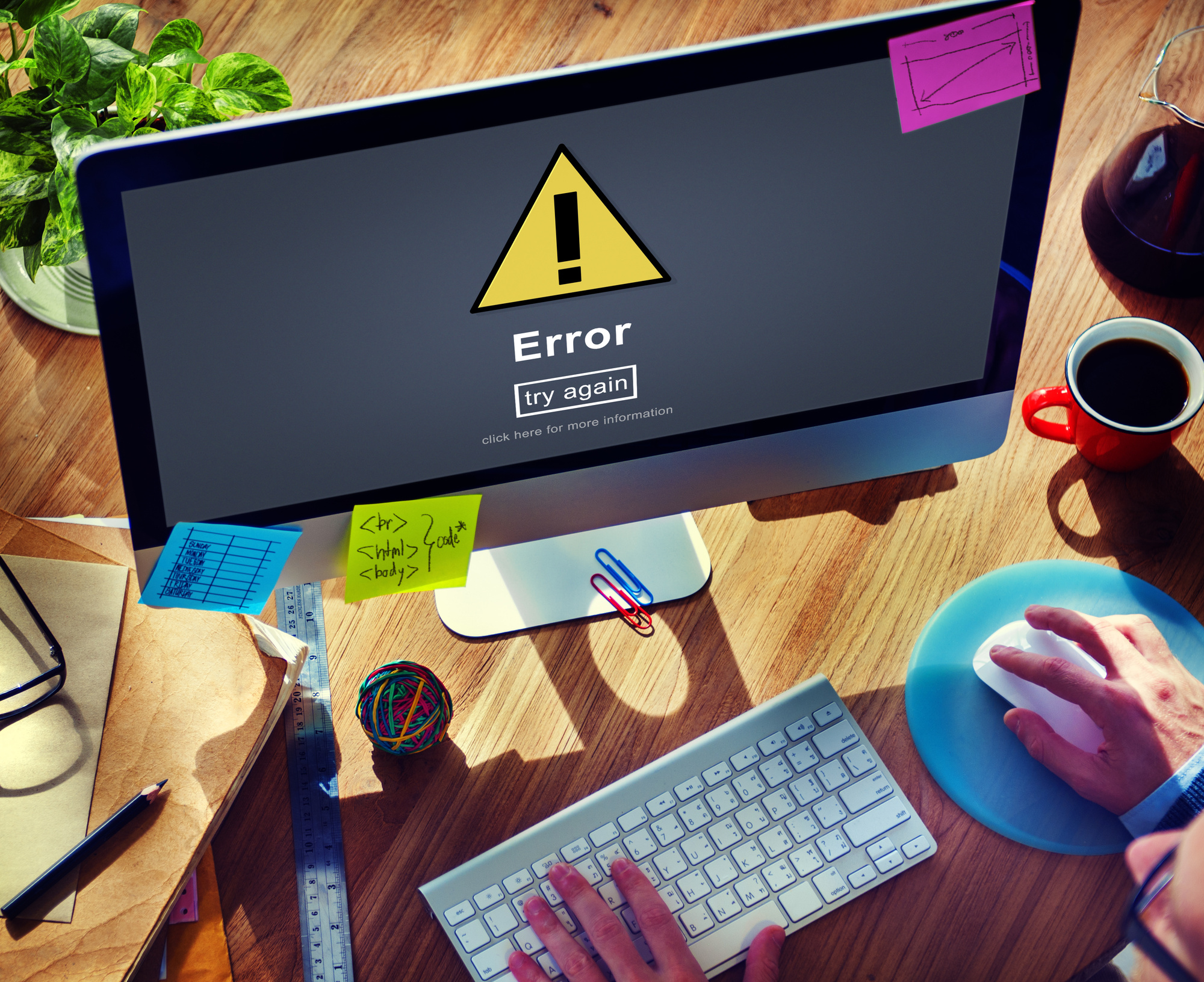 website error messages