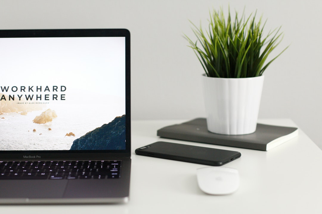 squarespace site on laptop