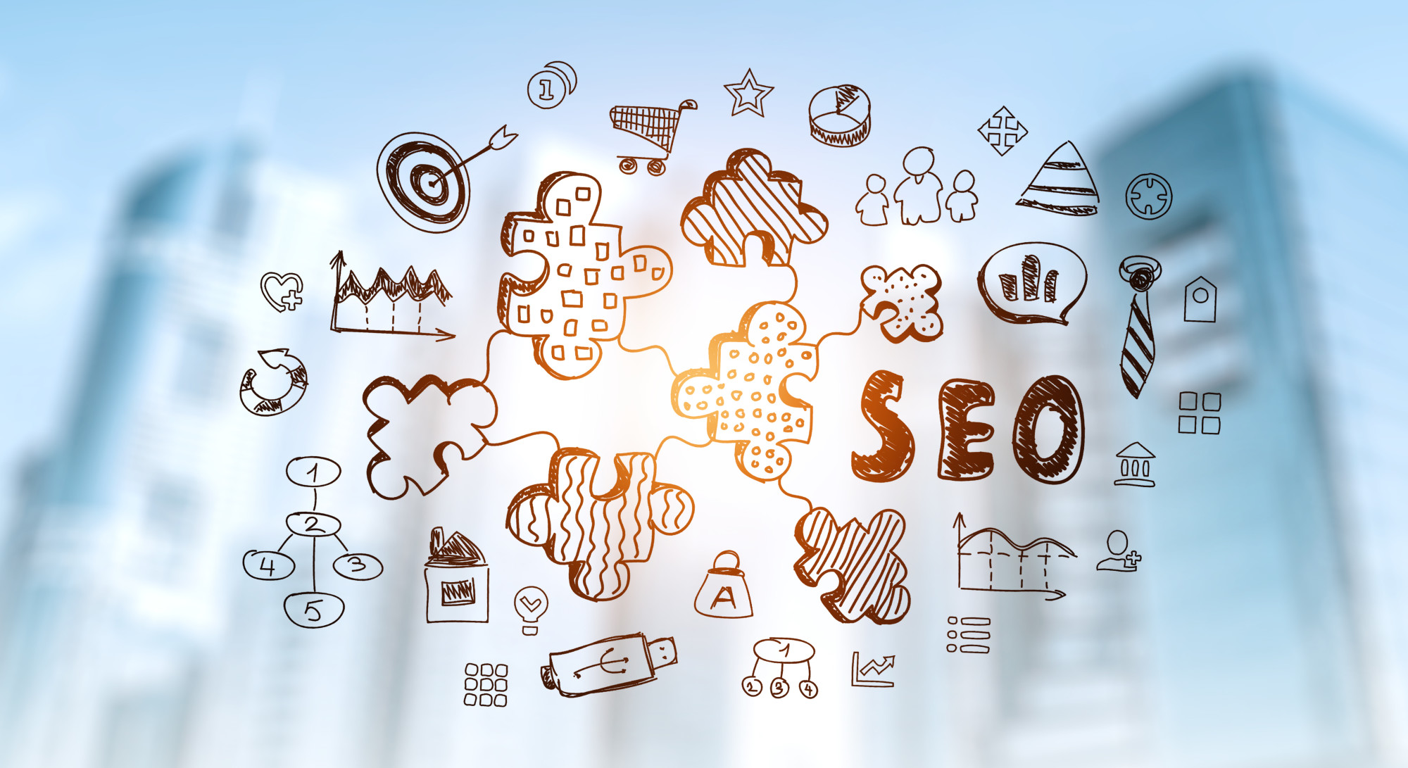 SEO and related icons
